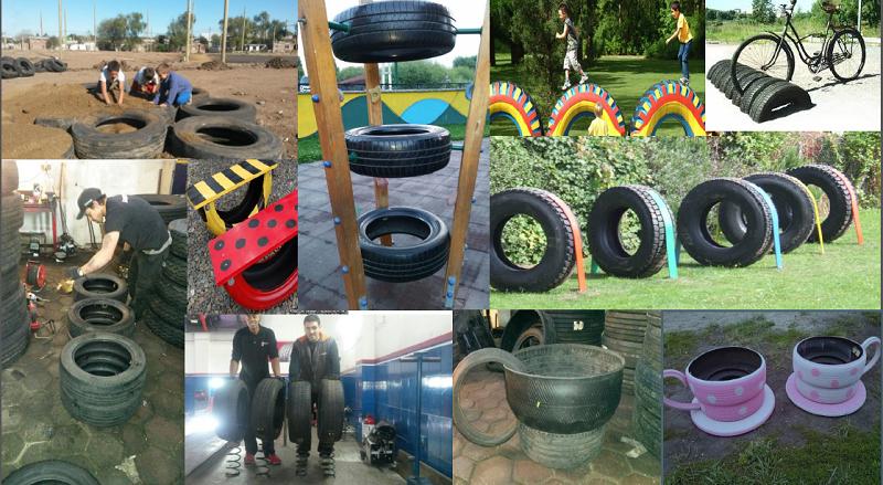 Eco-construcciones – reutilización de neumáticos y cámaras